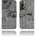 Twins Kunstleder Flip Case für iPhone 6,Atlas,flieder