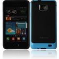Twins 2Color Bumper für Samsung i9100 Galaxy S2, schwarz-blau