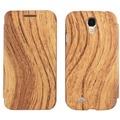 Twins BookFlip Wood für Samsung Galaxy S4