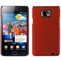 Twins Shield Matte für Samsung i9100 Galaxy S2, metallic-rot