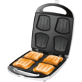 Unold 48480 SandwichToaster Quadro Weiss-Edelstahl