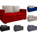 "VCM 2er Schlafsofa Sofabett Couch Sofa mit Schlaffunktion ""Ondal"" Hellgrau"