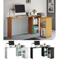 """VCM Eckschreibtisch Schreibtisch Büromöbel Computertisch Winkeltisch Tisch Büro """"Lusias"""" Buche"""
