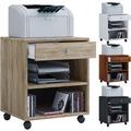 VCM Rollcontainer Bürocontainer Schubladenschrank Büroschrank Schublade Salda Kern-Nussbaum