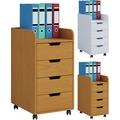 VCM Rollcontainer Bürocontainer Schubladenschrank Büroschrank Schubladen Konal Maxi Buche