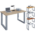 """VCM Schreibtisch Computertisch Arbeitstisch Büro Möbel PC Tisch """"Lona"""" B. 140 x T. 80 cm  Buche"""