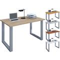 """VCM Schreibtisch Computertisch Arbeitstisch Büro Möbel PC Tisch """"Lona"""" B. 140 x T. 80 cm  Grau"""