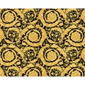 Versace klassische Mustertapete Barocco Flowers, Tapete, metallic, schwarz 935834