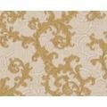Versace klassische Mustertapete Baroque & Roll, Tapete, beige, creme, metallic