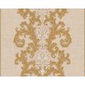 Versace klassische Mustertapete Baroque & Roll, Tapete, beige, creme, metallic 962323