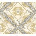 Versace Mustertapete Vasmara Vliestapete creme grau metallic 10,05 m x 0,70 m