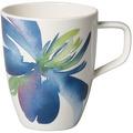 Villeroy & Boch Artesano Flower Art Becher mit Henkel blau,grün,bunt