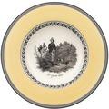 Villeroy & Boch Audun Chasse Suppenteller gelb,grau