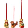 Villeroy & Boch Nostalgic Ornaments Ornamente Teddy, Set 3tlg. bunt