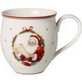 Villeroy & Boch Toy's Delight Becher mit Henkel Mr & Mrs Santa Claus rot,bunt