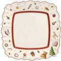 Villeroy & Boch Toy's Delight Frühstücksteller eckig weiß,rot