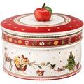 Villeroy & Boch Winter Bakery Delight Gebäckdose, groß weiß,rot