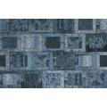 Kelii Patchwork-Teppich Montana jeans 80 cm x 150 cm