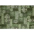 Kelii Patchwork-Teppich Patagonia green 60 cm x 90 cm