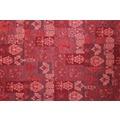 Kelii Patchwork-Teppich Patagonia rot 60 cm x 90 cm