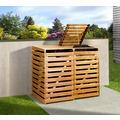 Weka Mülltonnenbox für 2 Tonnen, honigbraun imprägniert