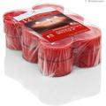 Wiedemann Flatpack Maxi-Teelichte PC Cup 8h, 12 Stück, Höhe 21 mm, ø 56 mm, Rubin