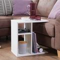 Wohnling Beistelltisch MILO 50x50x30 cm Holz Weiß Design Anstelltisch Sofa, Couchtisch klein modern
