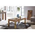Wohnling Couchtisch KALKUTTA 110 x 60 x 47 cm Recycling Vintage Massiv-Holz Wohnzimmertisch Design Landhaus Sofatisch Tisch Wohnzimmer Shabby-Chic aus Mango Bootsholz