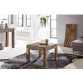 Wohnling Couchtisch KALKUTTA 60 x 60 cm Recycling Vintage Massiv-Holz Wohnzimmertisch Design Beistelltisch Landhaus Sofatisch Tisch Wohnzimmer Shabby-Chic Mango Bootsholz