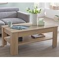Wohnling Design Couchtisch CONNIE 110x48x65 cm mit Stauraum & Ablage Holz Sonoma, Sofatisch eckig, Kaffeetisch modern, Loungetisch groß & hoch, Wohnzimmertisch rechteckig sonoma