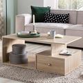 Wohnling Design Couchtisch WL5.737 105 x 43 x 60 cm Holz Sonoma mit Schublade, Wohnzimmertisch Coffee Table, Sofatisch Loungetisch Holz, Kaffeetisch mit Stauraum  sonoma