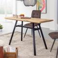 Wohnling Esstisch Mango Massivholz 120x78x60 cm Esszimmertisch Natur, Küchentisch Massiv mit Metallgestell, Loft Holztisch, Industrial Tisch