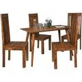 Wohnling Esszimmertisch REPA 120 x 60 x 76 cm Sheesham rustikal Massiv-Holz | Design Landhaus Esstisch | Tisch für Esszimmer rechteckig | 4 - 6 Personen