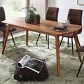Wohnling Esszimmertisch WL5.570 Sheesham 180x76x90 cm Massivholz Tisch, Designer Küchentisch Holz, Massivher Holztisch Rustikal, Speisetisch Massives Echt-Holz Modern braun