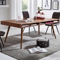Wohnling Esszimmertisch WL5.586 Sheesham 200x77x100 cm Massivholz Tisch, Designer Küchentisch Holz, Massivher Holztisch Rustikal, Speisetisch Massives Echt-Holz Modern braun