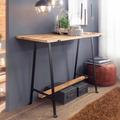 Wohnling Konsolentisch Mango Massivholz / Metall 140x102x55 cm Flurtisch, Anrichte Wohnzimmertisch Schmal, Design Schreibtisch Modern