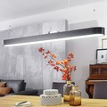 Wohnling LED-Deckenleuchte LINE 120x121x15 cm matt schwarz, EEK A+, 48 Watt, ohne Schirm