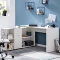 Wohnling Schreibtischkombination WL5.311 Weiß 130x75x60 cm Holz Schreibtisch