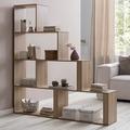 Wohnling Stufenregal Modern WL5.872 Sonoma 155 x 162,5 x 29 cm Holz Treppenregal
