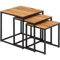 Woodlive Couchtisch Cube 3er-Set 40x40 cm schwarz