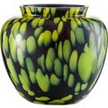 Zwiesel 1872 Splash Vase schwarz/ lemon 208