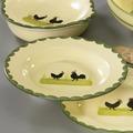 zeller keramik Teller 24cm tief Hahn und Henne