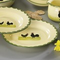zeller keramik Teller 25cm flach Hahn und Henne