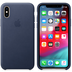 Apple iPhone XS Leather Case midnight blue