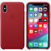 Apple iPhone XS Leather Case (PRODUCT) RED