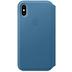 Apple iPhone XS Leather Folio cape cod blue
