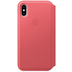 Apple iPhone XS Leather Folio peony pink