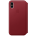 Apple iPhone XS Leather Folio (PRODUCT) RED
