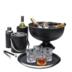 EDZARD Wein- und Sektkühler Pearl schwarz Ø 36cm