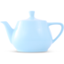 Friesland Teekanne 1,4l Pastellblau Utah Teapot Porzellan